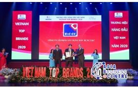"""Công ty Cổ phần Xây dựng Dân dụng E&C (E&C - CC) nhận giải thưởng TOP 50 """"Thương hiệu hàng đầu Việt Nam 2020"""""""